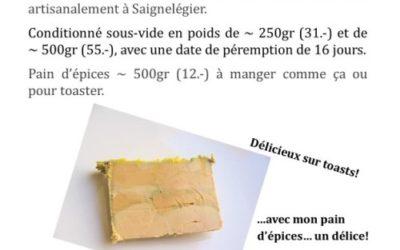 Commande de foie gras et pain d'épices pour les fêtes
